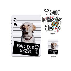 Bad Dog Playing Cards 54 (mini)  by Valentinaart