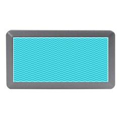 Blue Waves Pattern  Memory Card Reader (mini) by TastefulDesigns