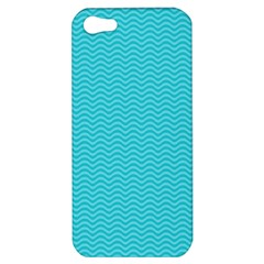 Blue Waves Pattern  Apple Iphone 5 Hardshell Case by TastefulDesigns