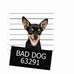 Bad Dog Small Garden Flag (two Sides) by Valentinaart