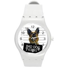 Bad Dog Round Plastic Sport Watch (m) by Valentinaart