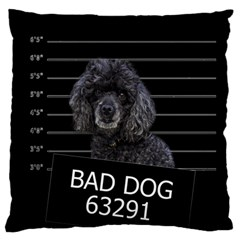 Bad Dog Standard Flano Cushion Case (two Sides) by Valentinaart