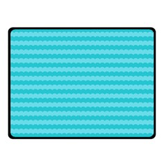Abstract Blue Waves Pattern Double Sided Fleece Blanket (small)  by TastefulDesigns