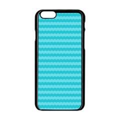 Abstract Blue Waves Pattern Apple Iphone 6/6s Black Enamel Case by TastefulDesigns