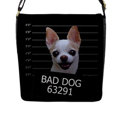 Bad Dog Flap Messenger Bag (l)  by Valentinaart