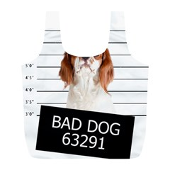 Bad Dog Full Print Recycle Bags (l)  by Valentinaart