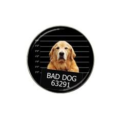 Bad Dog Hat Clip Ball Marker by Valentinaart