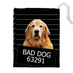 Bad Dog Drawstring Pouches (xxl) by Valentinaart