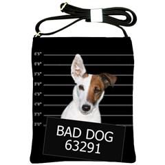 Bad Dog Shoulder Sling Bags by Valentinaart