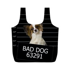 Bad Dog Full Print Recycle Bags (m)  by Valentinaart