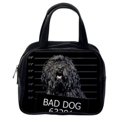 Bad Dog Classic Handbags (one Side) by Valentinaart