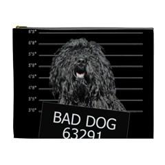 Bad Dog Cosmetic Bag (xl) by Valentinaart