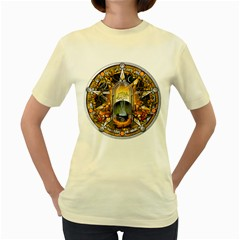 Samhain Sabbat Pentacle Women s Yellow T Shirt by NaumaddicArts