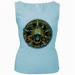 Samhain Sabbat Pentacle Women s Baby Blue Tank Top by NaumaddicArts