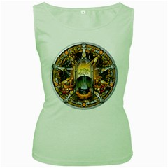 Samhain Sabbat Pentacle Women s Green Tank Top by NaumaddicArts