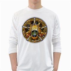 Samhain Sabbat Pentacle White Long Sleeve T Shirts by NaumaddicArts