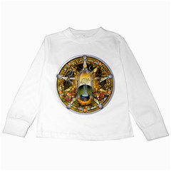 Samhain Sabbat Pentacle Kids Long Sleeve T Shirts by NaumaddicArts