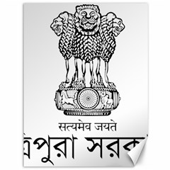 Seal Of Indian State Of Tripura Canvas 36  X 48   by abbeyz71