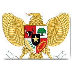 National Emblem Of Indonesia  Large Doormat  by abbeyz71