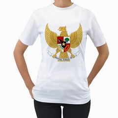 National Emblem Of Indonesia  Women s T Shirt (white)  by abbeyz71