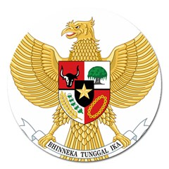 National Emblem Of Indonesia  Magnet 5  (round) by abbeyz71