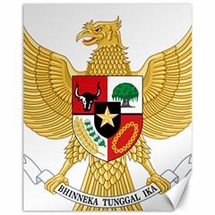 National Emblem Of Indonesia  Canvas 11  X 14   by abbeyz71