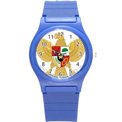National Emblem Of Indonesia  Round Plastic Sport Watch (s) by abbeyz71