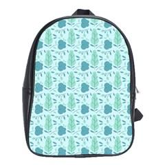 Flowers And Leaves Pattern School Bags(large)  by TastefulDesigns