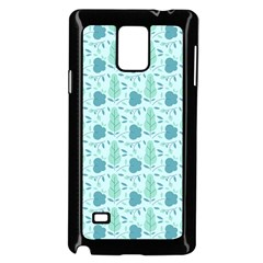 Flowers And Leaves Pattern Samsung Galaxy Note 4 Case (black) by TastefulDesigns