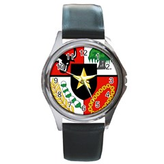 Shield Of National Emblem Of Indonesia Round Metal Watch by abbeyz71