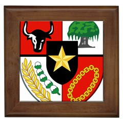 Shield Of National Emblem Of Indonesia Framed Tiles by abbeyz71