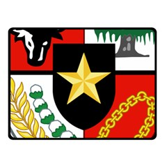 Shield Of National Emblem Of Indonesia Fleece Blanket (small) by abbeyz71