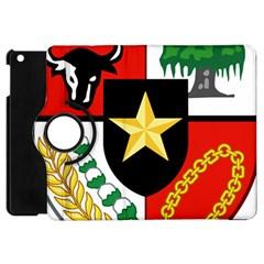 Shield Of National Emblem Of Indonesia  Apple Ipad Mini Flip 360 Case by abbeyz71