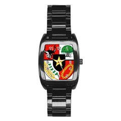 Shield Of National Emblem Of Indonesia  Stainless Steel Barrel Watch by abbeyz71