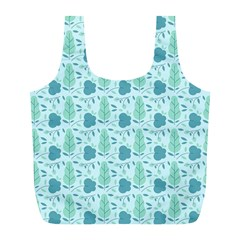 Seamless Floral Background  Full Print Recycle Bags (l)  by TastefulDesigns