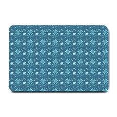 Seamless Floral Background  Small Doormat  by TastefulDesigns