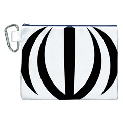 Emblem Of Iran Canvas Cosmetic Bag (xxl) by abbeyz71
