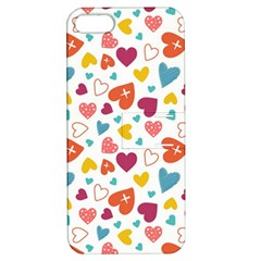Colorful Bright Hearts Pattern Apple Iphone 5 Hardshell Case With Stand by TastefulDesigns