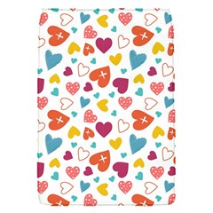 Colorful Bright Hearts Pattern Flap Covers (s)  by TastefulDesigns