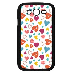 Colorful Bright Hearts Pattern Samsung Galaxy Grand Duos I9082 Case (black) by TastefulDesigns