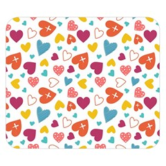 Colorful Bright Hearts Pattern Double Sided Flano Blanket (small)  by TastefulDesigns