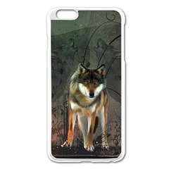 Awesome Wolf In The Night Apple Iphone 6 Plus/6s Plus Enamel White Case by FantasyWorld7