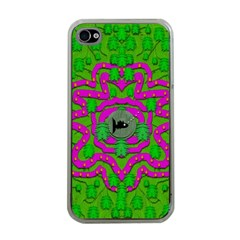 Vegetarian Art With Pasta And Fish Apple Iphone 4 Case (clear) by pepitasart