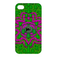 Vegetarian Art With Pasta And Fish Apple Iphone 4/4s Hardshell Case by pepitasart