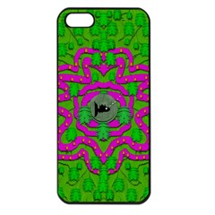 Vegetarian Art With Pasta And Fish Apple Iphone 5 Seamless Case (black) by pepitasart