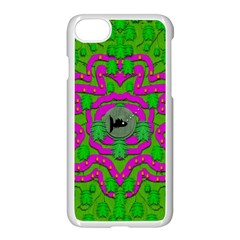 Vegetarian Art With Pasta And Fish Apple Iphone 7 Seamless Case (white) by pepitasart
