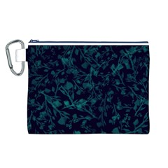 Leaf Pattern Canvas Cosmetic Bag (l) by berwies