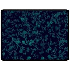 Leaf Pattern Double Sided Fleece Blanket (large)  by berwies