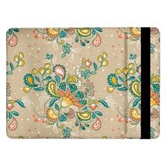 Hand Drawn Batik Floral Pattern Samsung Galaxy Tab Pro 12 2  Flip Case by TastefulDesigns