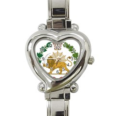 Imperial Coat Of Arms Of Persia (iran), 1907 1925 Heart Italian Charm Watch by abbeyz71